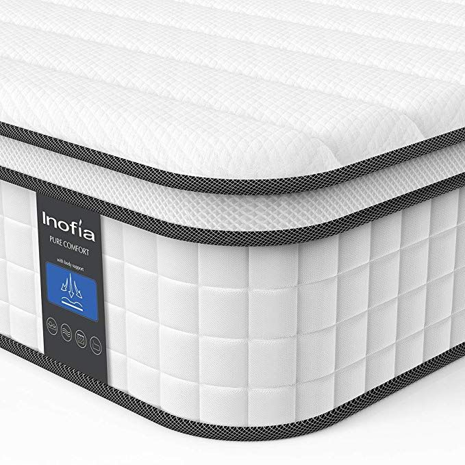 Amazon Com Queen Mattress Inofia Responsive Memory Foam Mattress Hybrid Innerspring Mattress In A Box S Twin Xl Mattress Memory Foam Mattress Foam Mattress