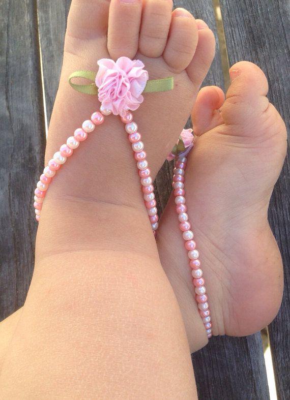 Baby Barefoot sandals baby shoes baby gift baptism door Aupetitpied