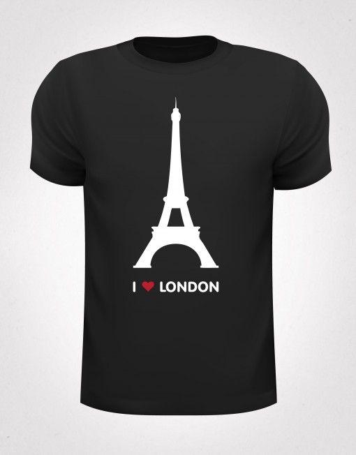 Het I love London t-shirt. Met de prachtige Eiffeltoren erop.