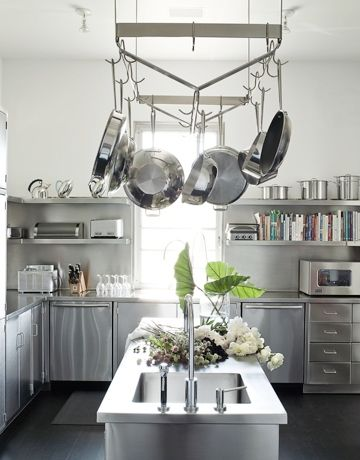 This Or That Stainless Steel Kitchen Cabinets Modern Home Pinterest And
