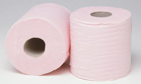 Pink toilet paper - back in the day when toilet paper was coloured!