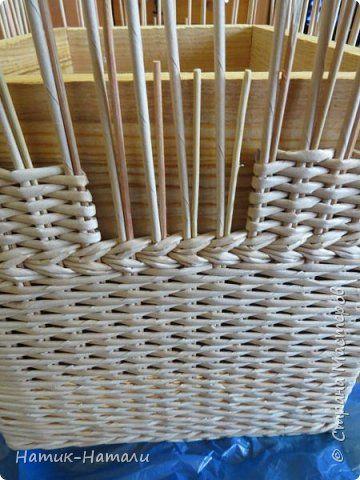 Поделка изделие Плетение Март-апрель Трубочки бумажные фото 60