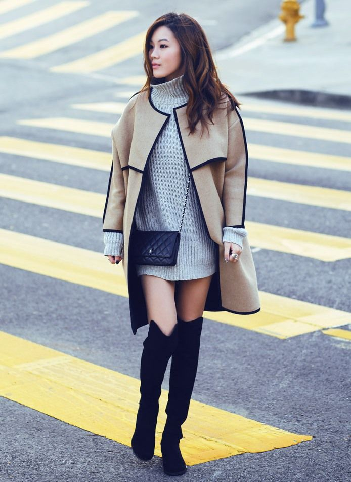 sweater-dress-and-structured-coat-with-tall-boots