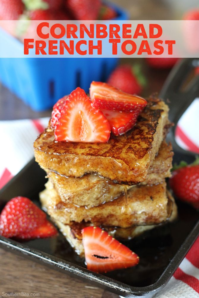 Cornbread French Toast - Turn the Southern staple into a delicious breakfast! This is the recipe everyone is talking about.