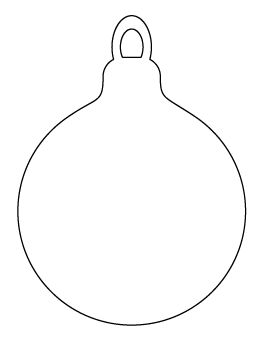Christmas Ornament Pattern | Christmas ornament template ...