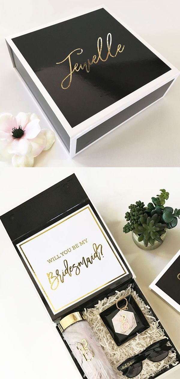 441d068bf80c7 Personalized Will You Be My Bridesmaid Gift Boxes - These cute boxes are  such a fun and unique way to ask your besties to be part of your special  day.