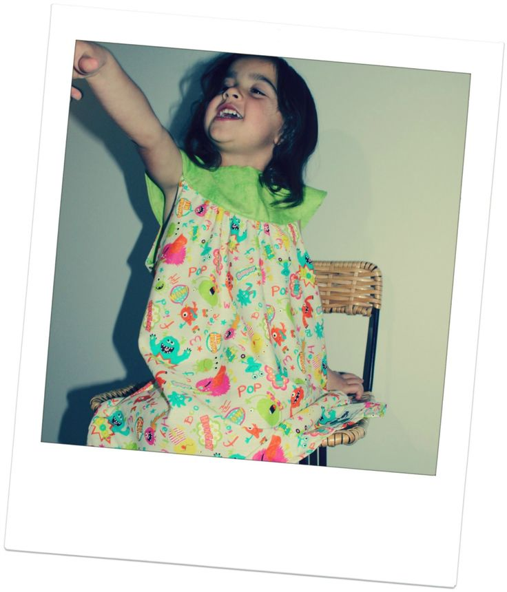 """Little green monster"" Swing dress 