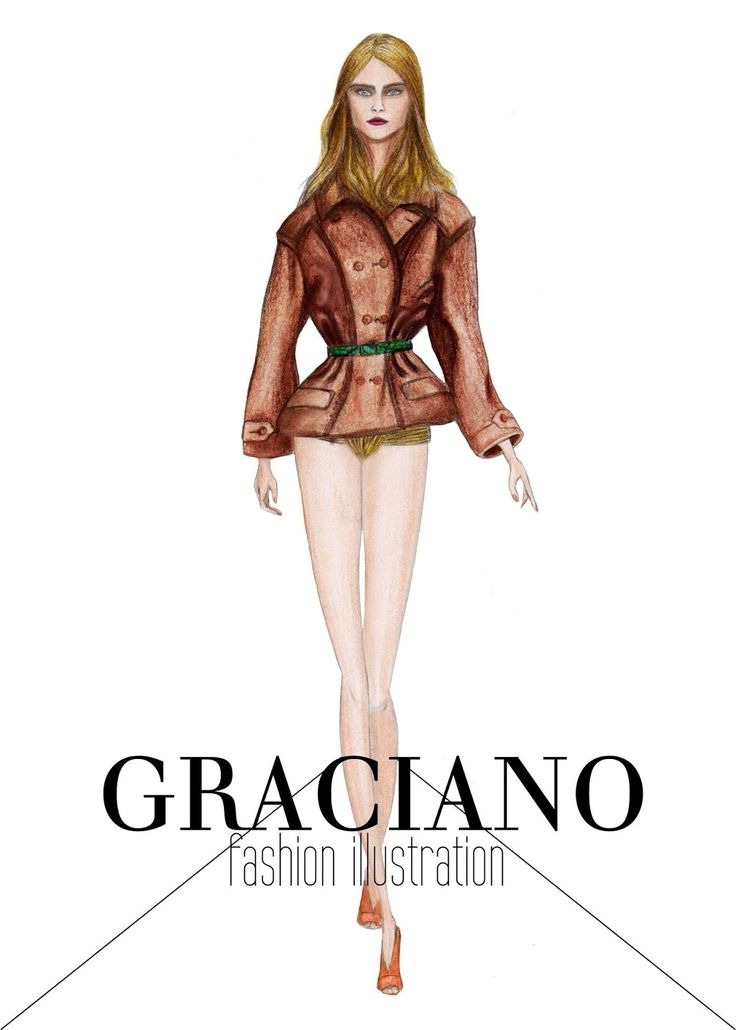 GRACIANO fashion illustration: Burberry S/S 2013 #LFW