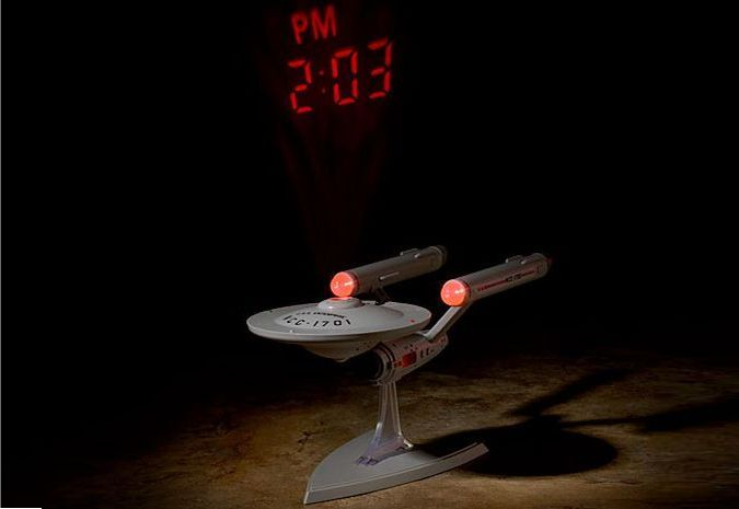 Star Trek U.S.S. Enterprise NCC-1701 Alarm Clock With Time Projection http://coolpile.com/gadgets-magazine/star-trek-enterprise-projection-alarm-clock-helps-trekkies-wake-smile-faces/ via coolpile.com by @ThinkGeek  #AlarmClock #Clocks #Cool #Gifts #StarTrek #ThinkGeek #coolpile
