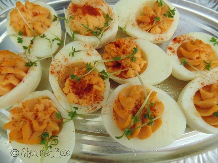 gevulde eieren recept hapjes snacks