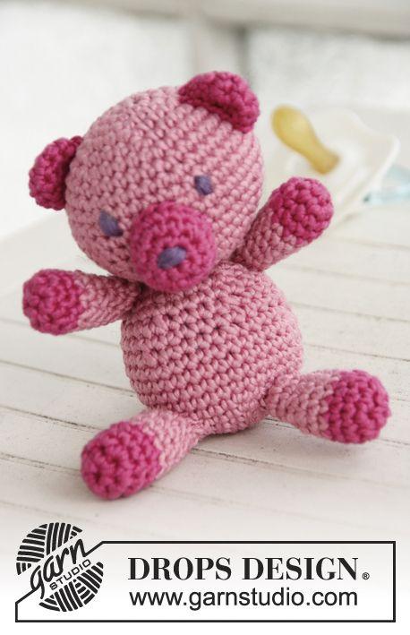 Crochet teddy bear in DROPS Muskat