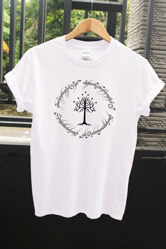Herr der Ringe Logo Baum Shirt Herr der Ringe-t-Shirt von DShoesMe