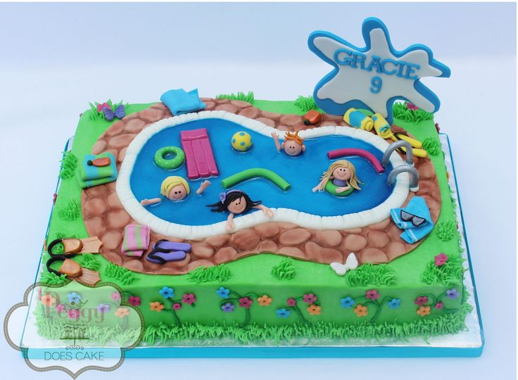 Pool Party § cute themed cake via Facebook
