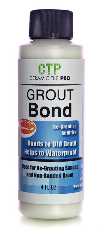 TheGroutStore - Grout Bond, $13.49 http://www.thegroutstore.com/collections/all/products/ceramictilepro-grb-ctp-4-grout-bond-re-grouting-additive