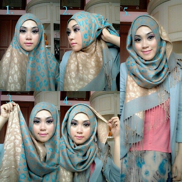 Stylish Hijab Tutorial in 4 Steps