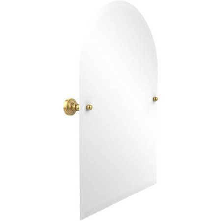 Frameless Arched Top Tilt Mirror with Beveled Edge (Build to Order), Yellow