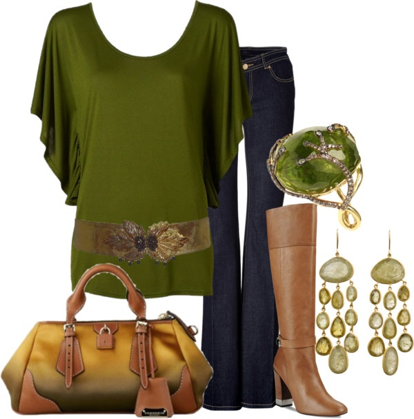 """""""fall green"""" by lagu ❤ liked on Polyvore"""