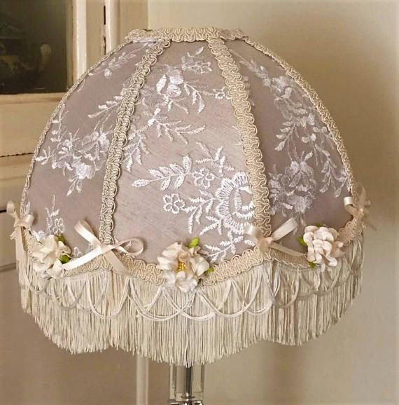 43 best victorian lampshades images on pinterest a victorian lampshade oyster silk cream fringe flowers fringe vintage style lace embroidery hand made aloadofball Gallery