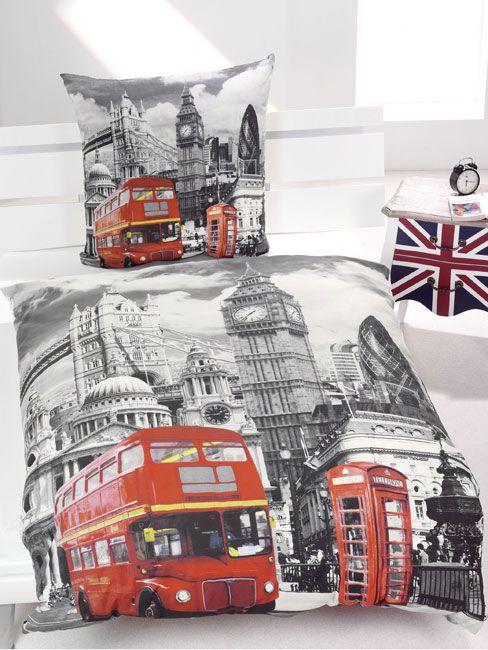 London Bus Single Duvet Cover And Pillowcase Set Single