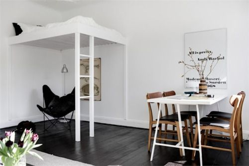 Small space solutions: Design Room, Small Apartment, Bunk Beds, Studios Apartment, Interiors Design, Apartment Ideas, Small Spaces, Design Home, Loft Beds