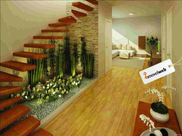 Baño Con Jardin Interior:Indoor Garden Under Staircase