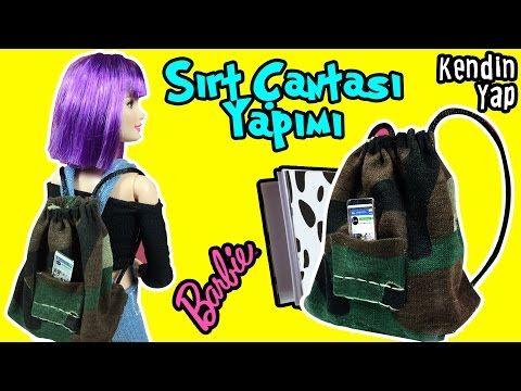 Barbie Sırt Çantası Yapımı - Kendin Yap Barbie Bebek Eşyaları - Oyuncak Yap - YouTube
