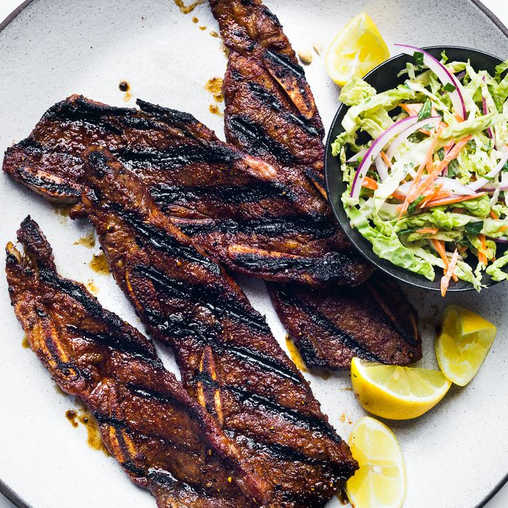Sweet-and-Spicy Grilled Beef Short Ribs | Food & Wine