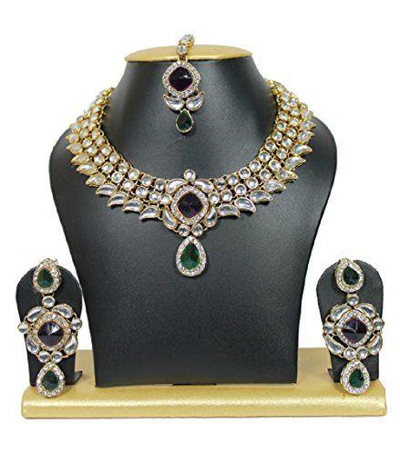 Bollywood Traditional Kundan Purple Green Color And Beads... https://www.amazon.com/dp/B01MDUCOIP/ref=cm_sw_r_pi_dp_x_5Tm0yb3YWKMYW