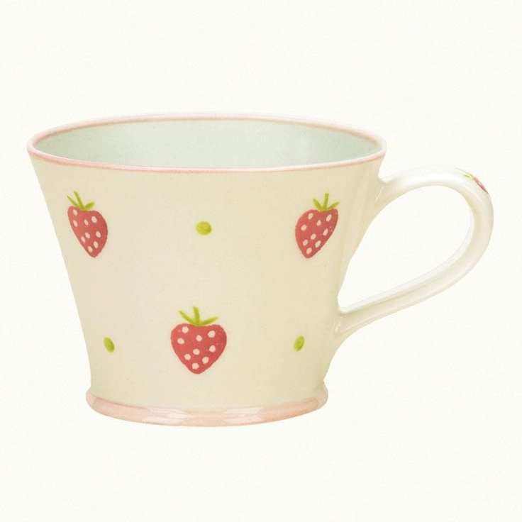 Susie Watson conical mug - strawberry