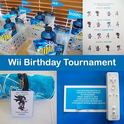 Wii Birthday Tournament - Video Game Party