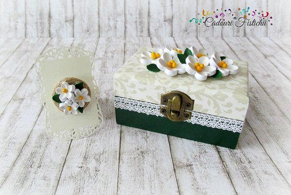 Quilling  Paper  Handmade  Jasmine  Wedding  by CadouriFistichii