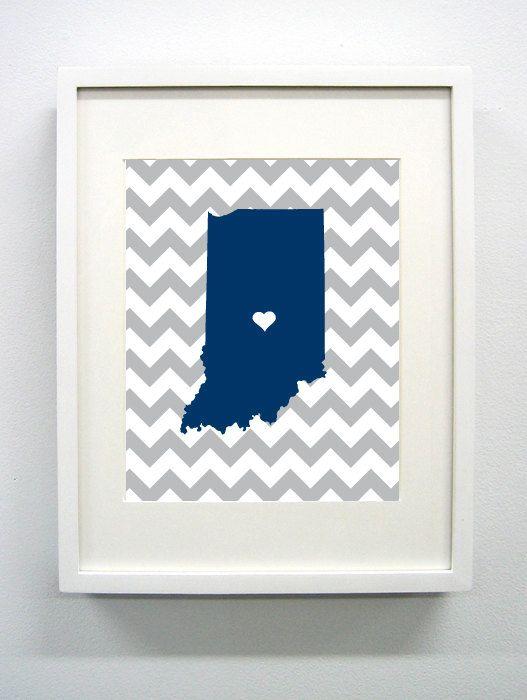Butler University Set of Three Giclée Print- 8x10 - Go Bulldogs - Indiana State Print