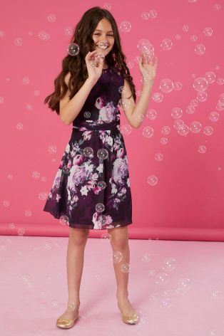 f789bb4c80 Lipsy Girl Lace Trim Printed Dress | Flower girls | Dresses, Lipsy ...