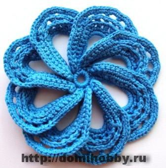 with diagramsBeautiful Flower, Crochet Ideas, Crochet Flower, Flower Motif, Blue Flower, Diy Flower, Flower Crochet, Knits Flower, Flower Pattern