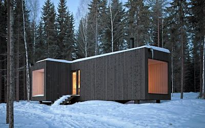 Finish cabin by avanto architects. The owner lives here with no electricity or running water, but I wouldn´t mind in a place like this.