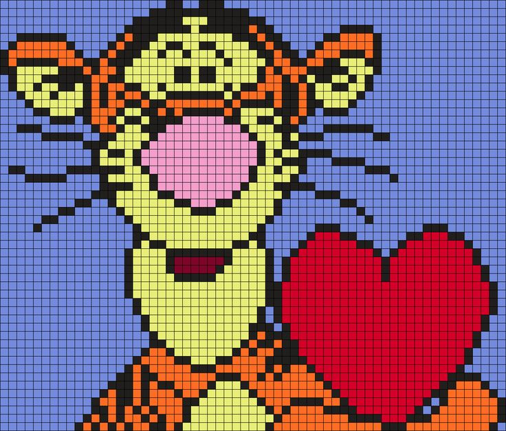 Tigger with a heart (Square)