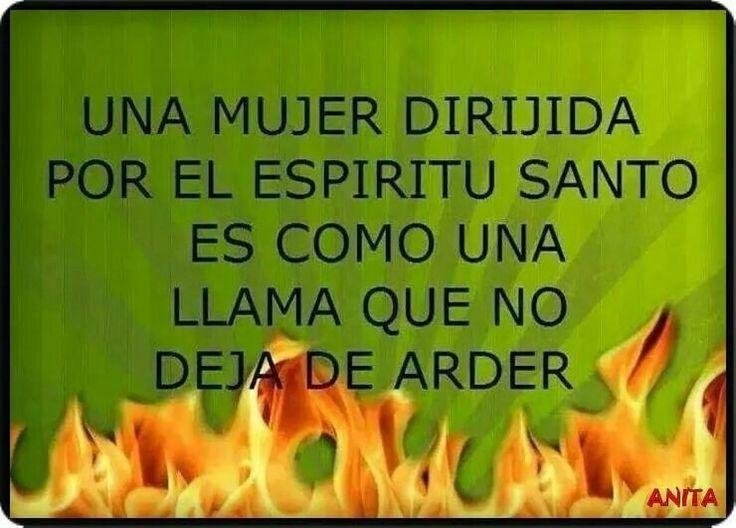 Una mujer sin vida por el Espíritu Santo es como una llama que no deja de arder.