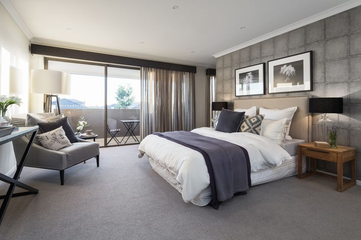 MASTER BEDROOM: This style achieves a seamless harmony between traditional country furniture and relaxed, intimate living utilising colours that feel moody and welcoming. Visit our Provincial Trader Lookbook style here: http://www.metricon.com.au/get-inspired/lookbook/provincial-trader