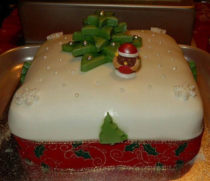 Christmas Cake Images Pinterest