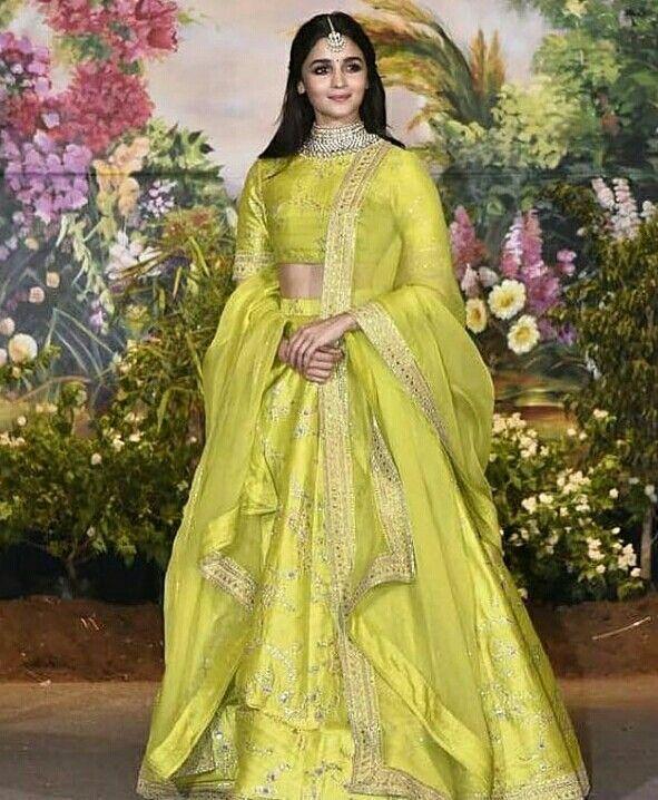 9951354aac Alia Bhatt in Sabyasachi Lehenga | TraditionalLove | Indian dresses ...