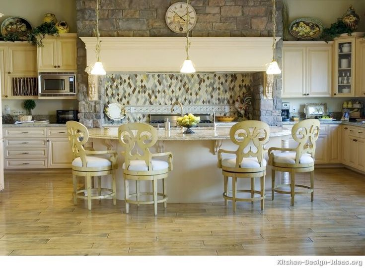 73 best images about antique white kitchens on pinterest for French antique white kitchen cabinets