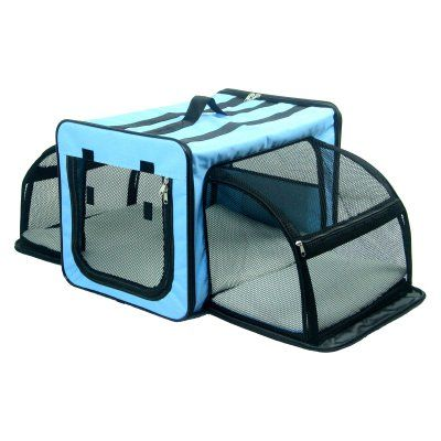 Pet Life Capacious Dual-Expandable Wire Dog Crate - H5BLLG