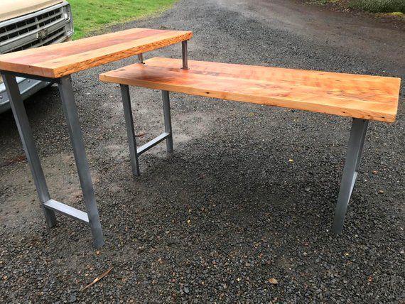 L shaped desk. industrial desk. reclaimed wood desk. office desk. 2