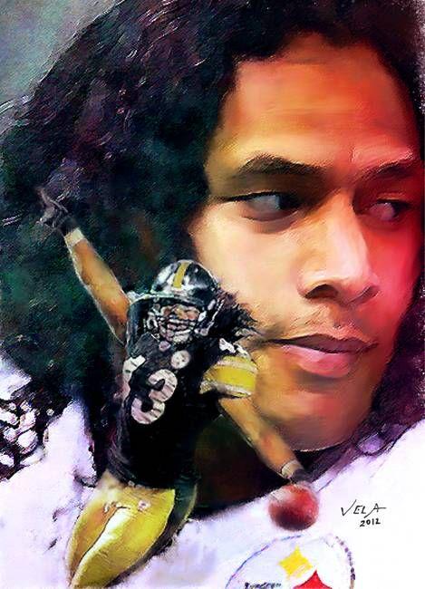 """Troy Polamalu Pittsburgh Steelers "" by Edward Vela"