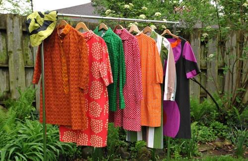 Vintage 60s Marimekko Dress Oiva Toikka Textile Excellent and Unfaded S   eBay