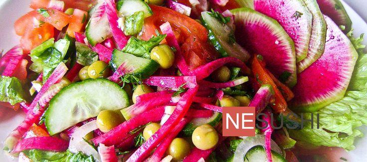 Салат из редьки с амлетом