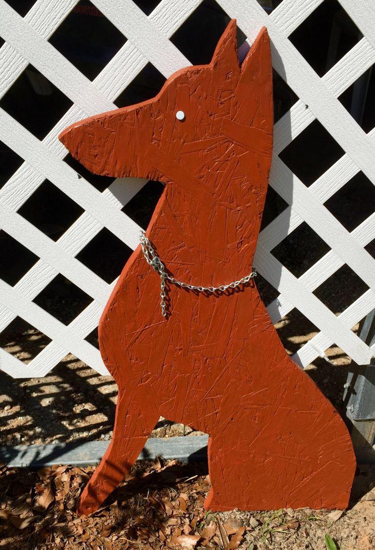 Doberman Pinscher Silhouette, Garden Art, Wooden Yard Art by OccasionsBoutique on Etsy