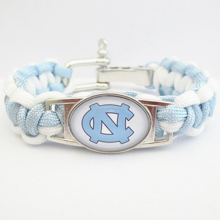 NORTH CAROLINA TAR HEELS Paracord Football Sports Bracelet - 50% OFF Today