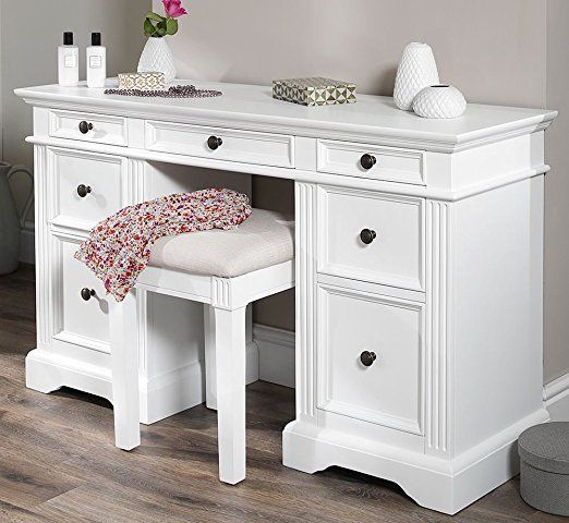 Gainsborough White Dressing table. Very solid dressing table with 7 drawers in different sizes. White desk. FULLY ASSEMBLED