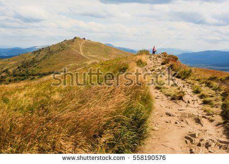 Polish Bieszczady mountains - path to Chatka Puchatka